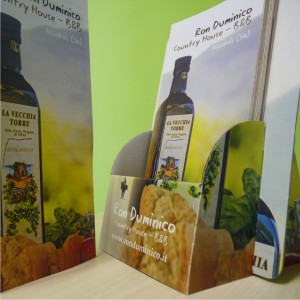 Brochure + porta brochure per Ron Duminico Country House